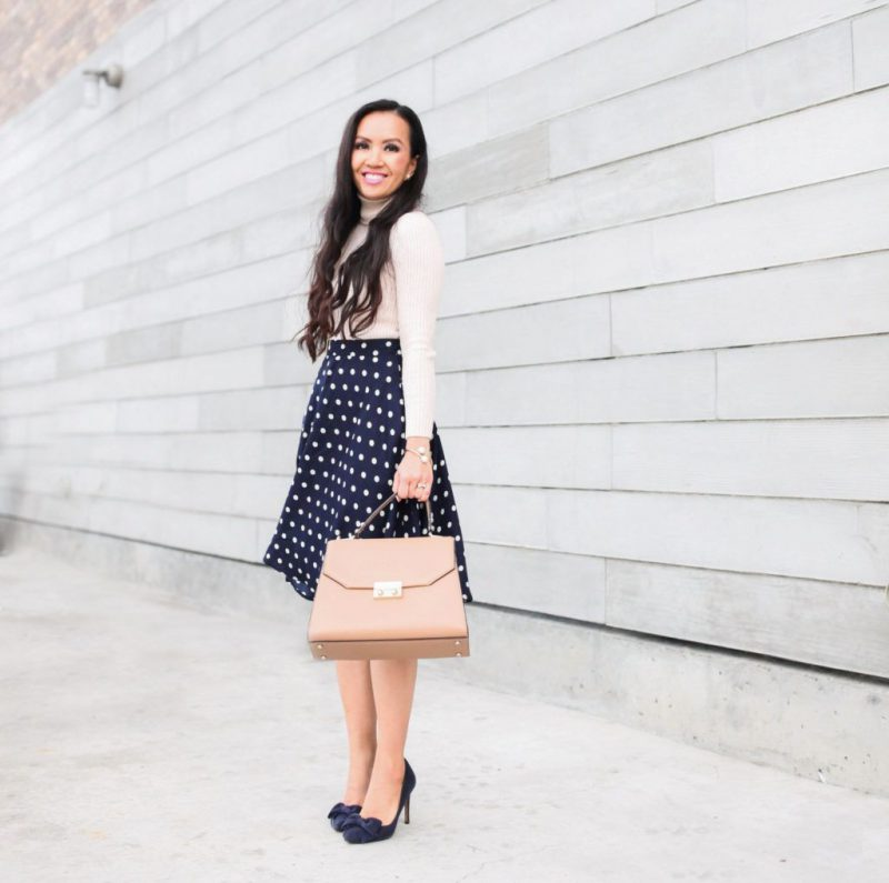 2018 Polka Dot Clothes And Accessories For Women (10)