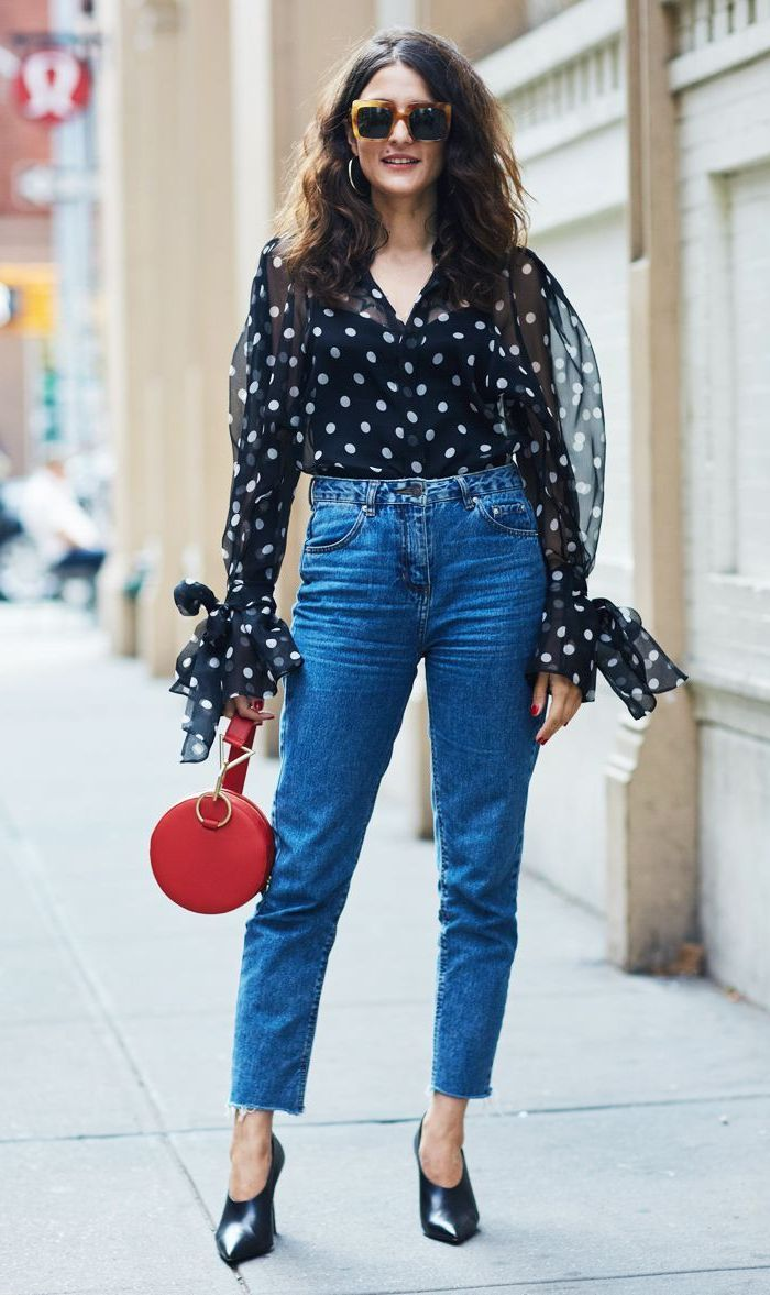 2018 Polka Dot Clothes And Accessories For Women (11)