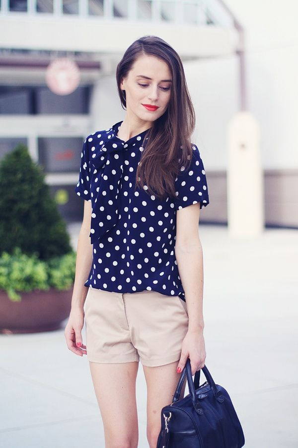 2018 Polka Dot Clothes And Accessories For Women (13)