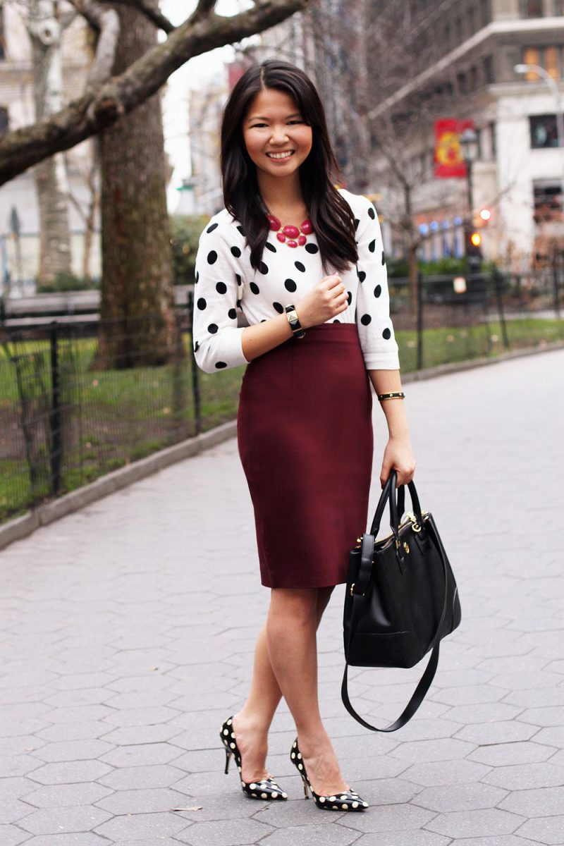 2018 Polka Dot Clothes And Accessories For Women (14)