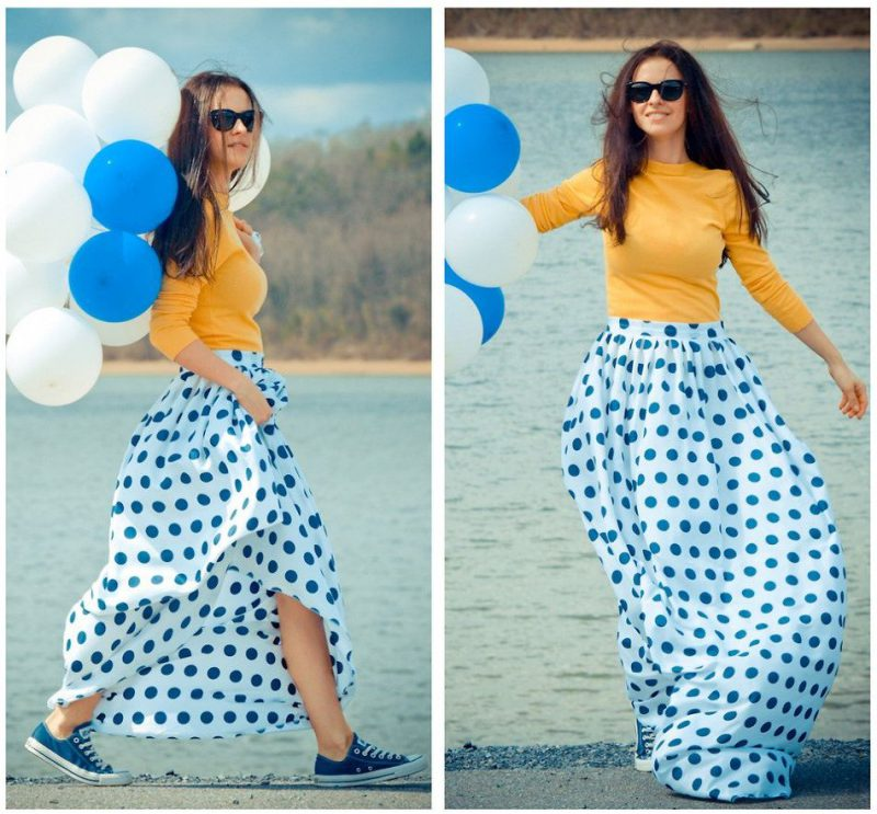 2018 Polka Dot Clothes And Accessories For Women (17)