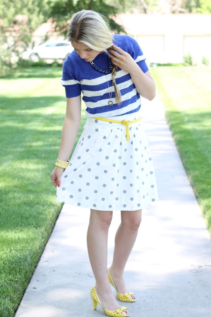 2018 Polka Dot Clothes And Accessories For Women (19)