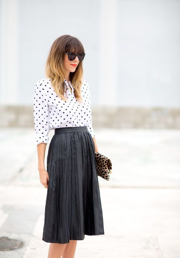 2018 Polka Dot Clothes And Accessories For Women (24)