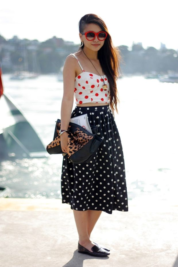 2018 Polka Dot Clothes And Accessories For Women (25)