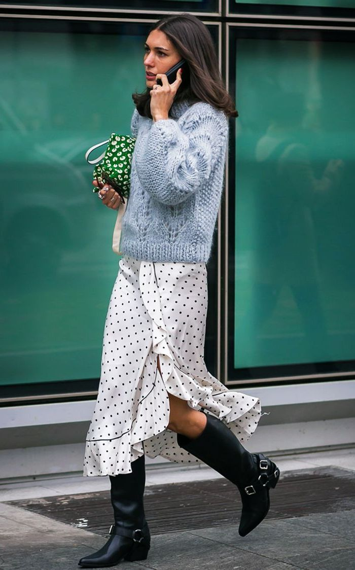 2018 Polka Dot Clothes And Accessories For Women (3)