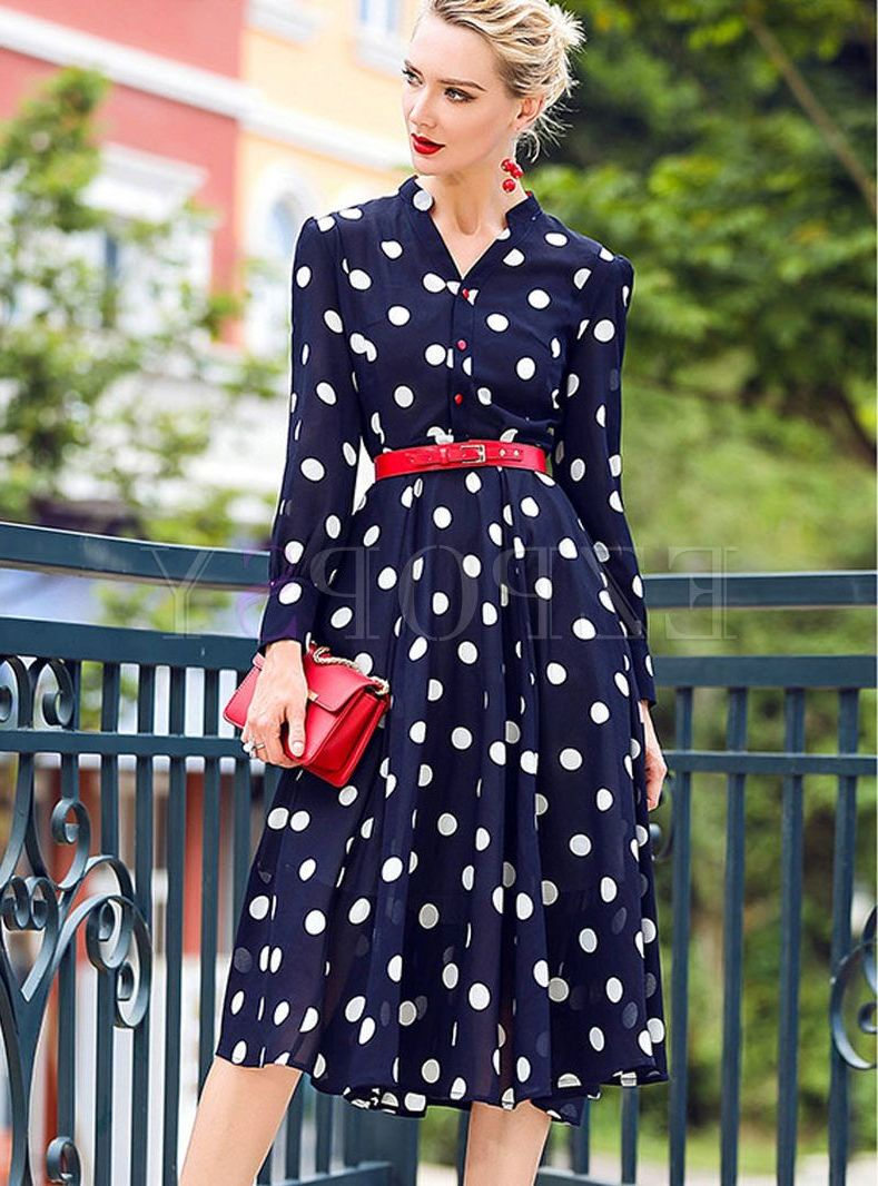 2018 Polka Dot Clothes And Accessories For Women (5)