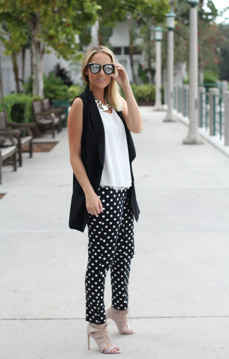 2018 Polka Dot Clothes And Accessories For Women (6)