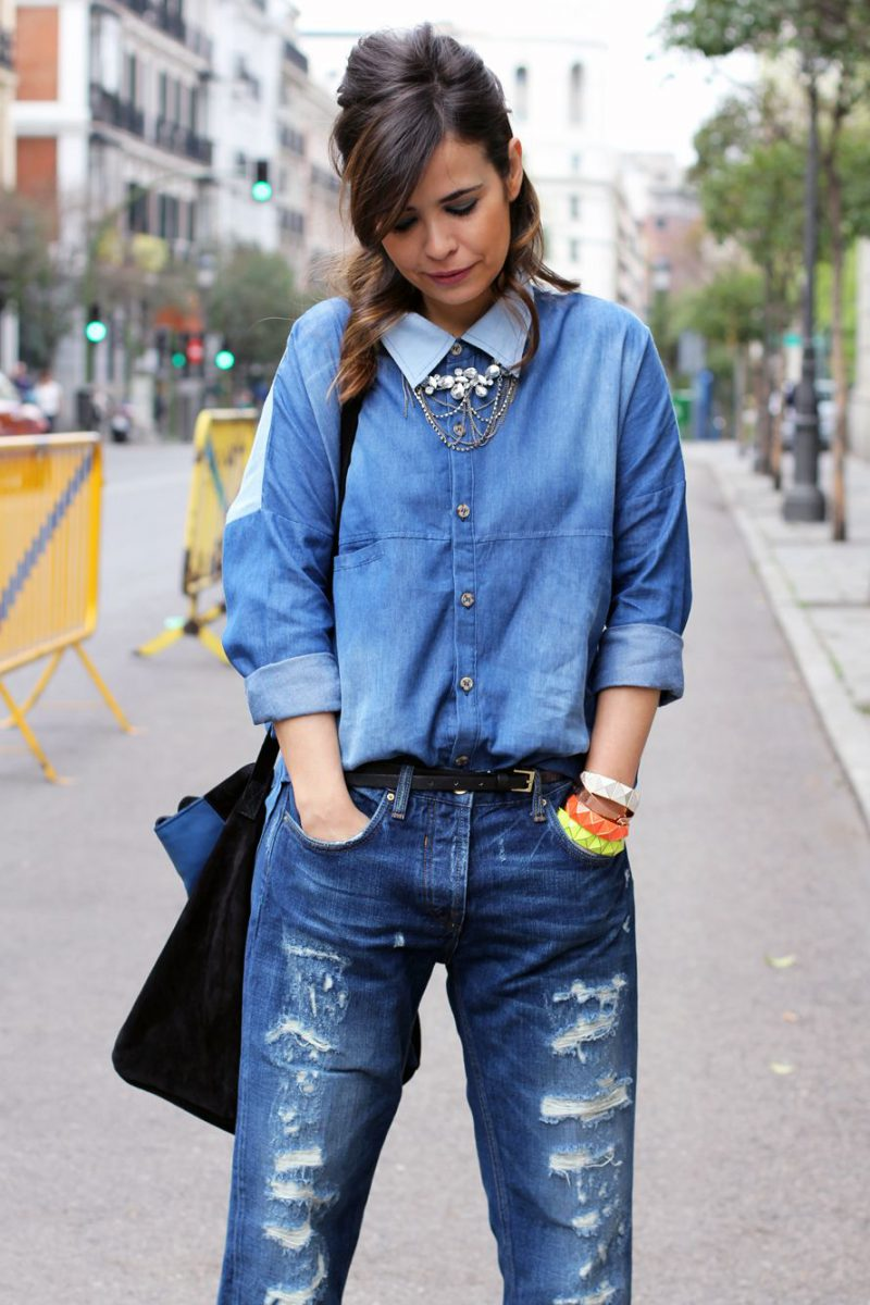 2018 Best Denim Shirts For Women Street Style Must Haves (11)