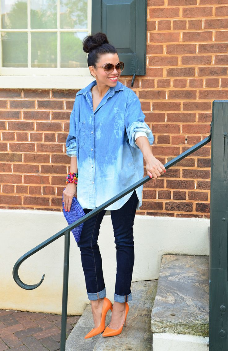 2018 Best Denim Shirts For Women Street Style Must Haves (12)