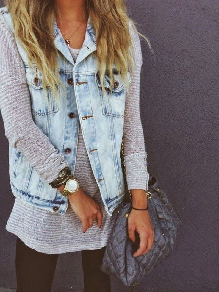 2018 Best Denim Shirts For Women Street Style Must Haves (14)