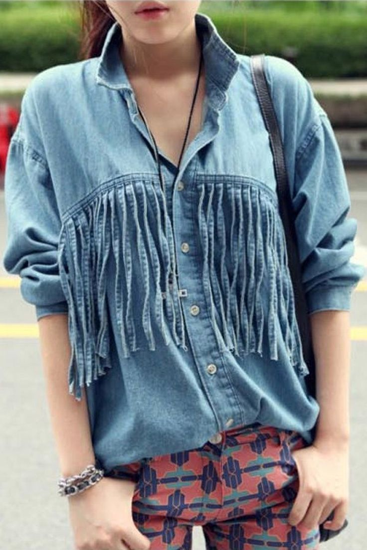 2018 Best Denim Shirts For Women Street Style Must Haves (22)