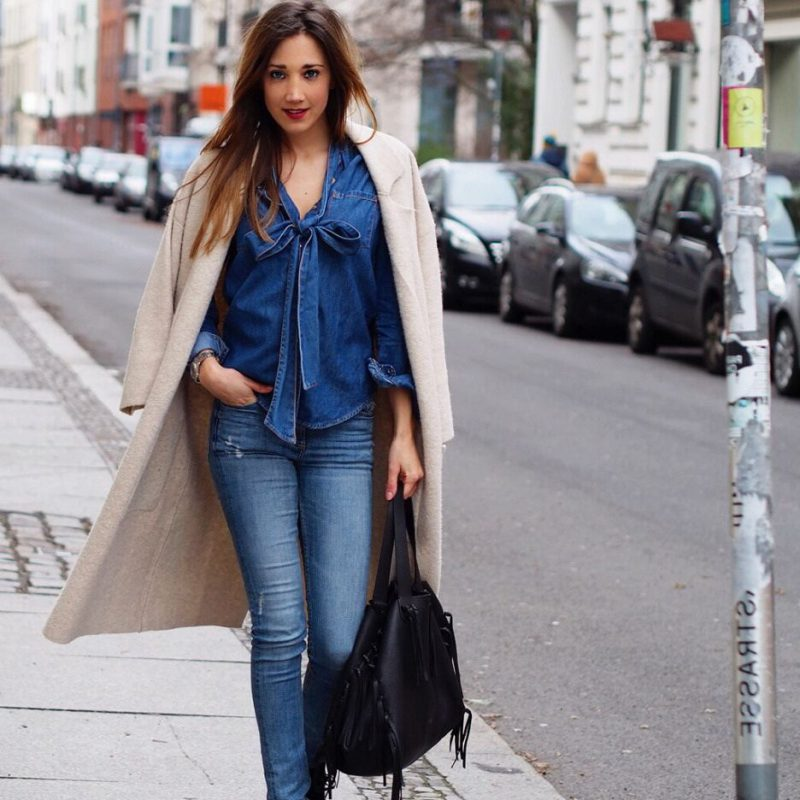 2018 Best Denim Shirts For Women Street Style Must Haves (7)