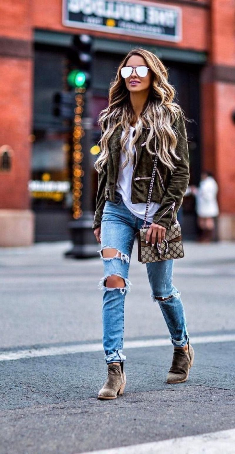 Ripped Jeans Simple And Trendy Looks 2019