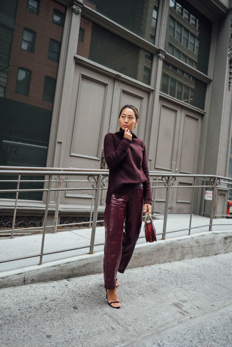 How To Wear Burgundy Color In Winter 2019
