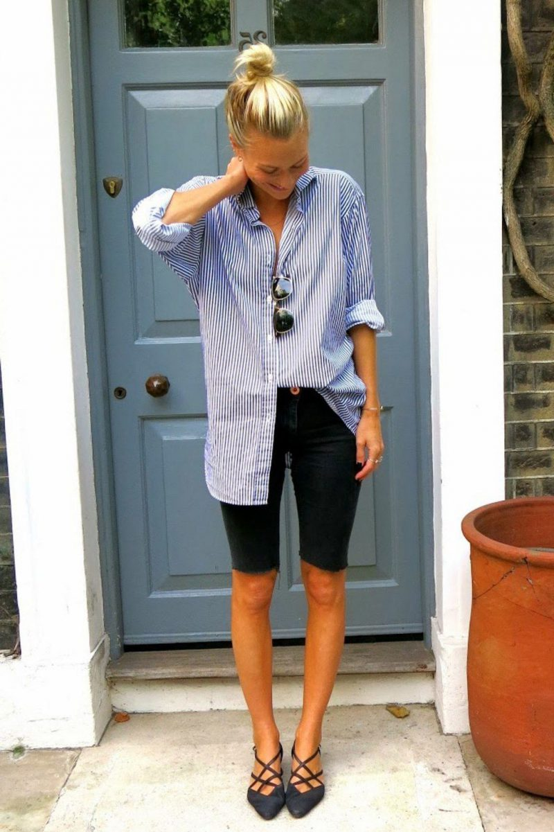 2018 Bermuda Shorts For Women Street Style Looks (20)