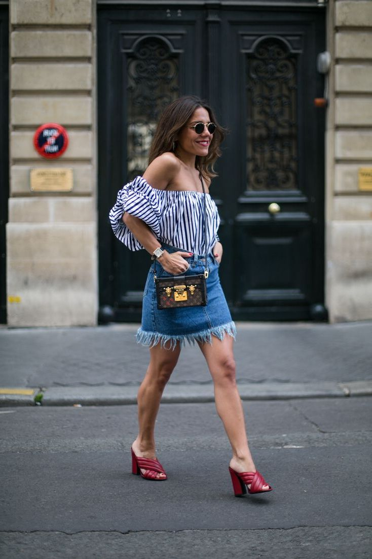 2018 Best Summer Mini Skirts And Shoes Combos For Women (13)