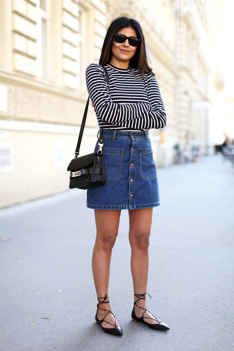 2018 Best Summer Mini Skirts And Shoes Combos For Women (2)