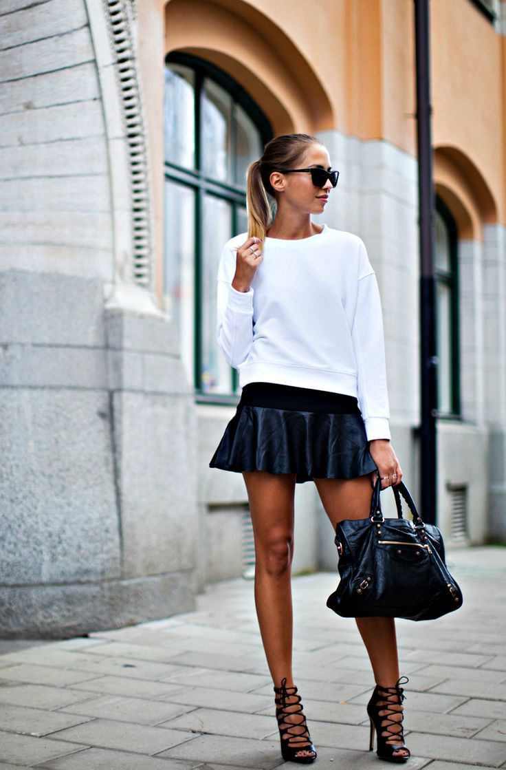 2018 Best Summer Mini Skirts And Shoes Combos For Women (26)