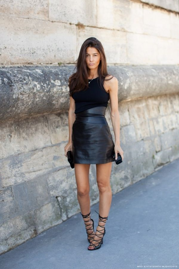2018 Best Summer Mini Skirts And Shoes Combos For Women (28)