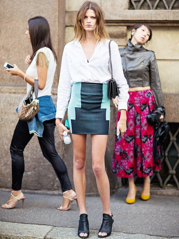 2018 Best Summer Mini Skirts And Shoes Combos For Women (32)