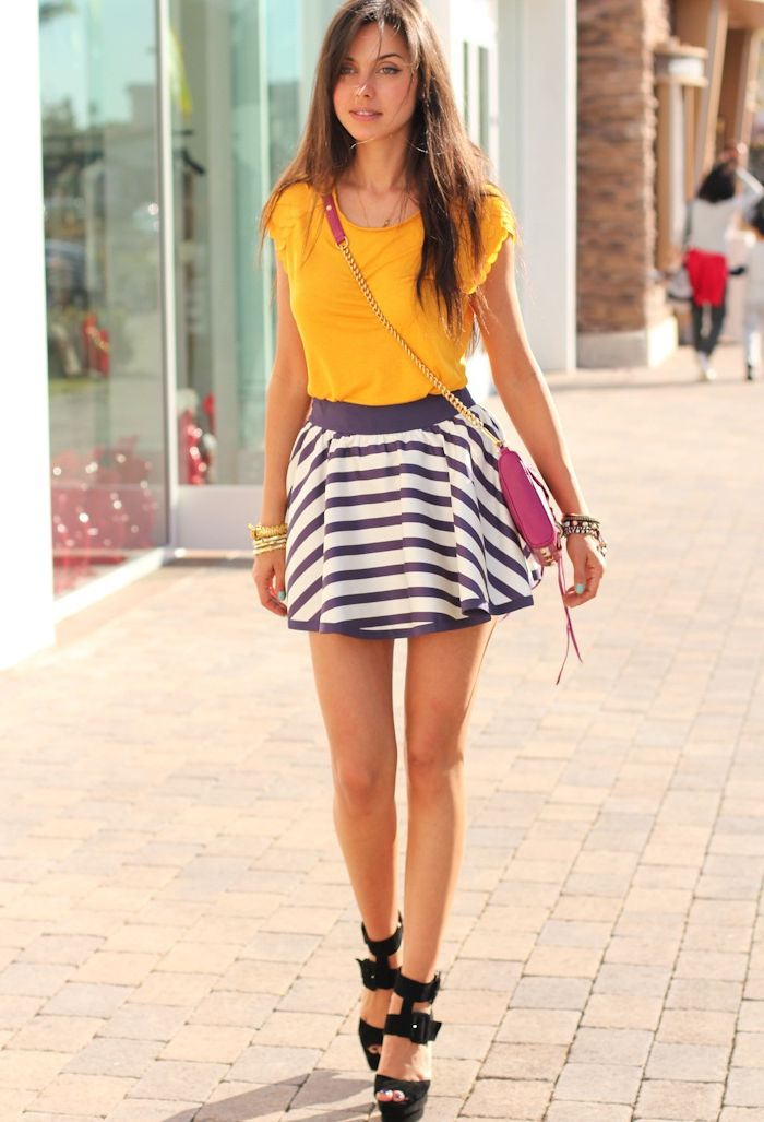 2018 Best Summer Mini Skirts And Shoes Combos For Women (35)