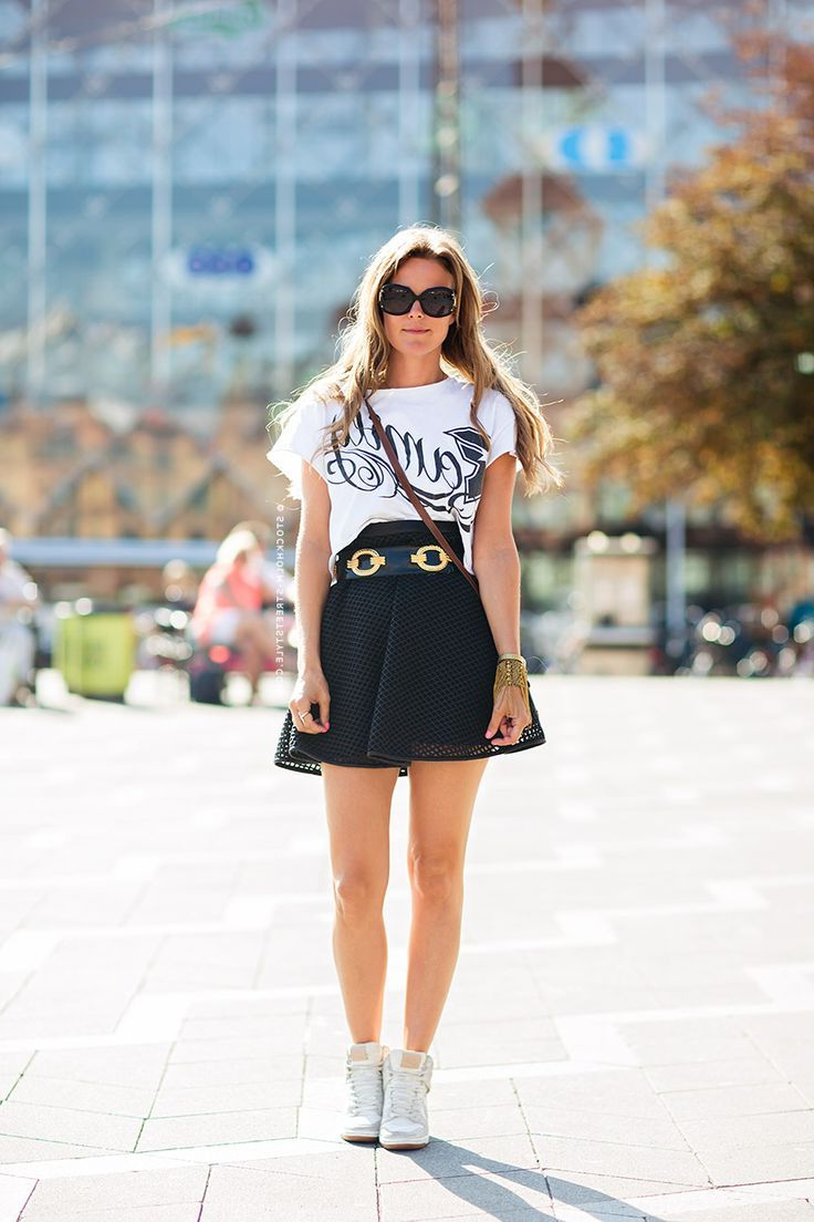 2018 Best Summer Mini Skirts And Shoes Combos For Women (37)