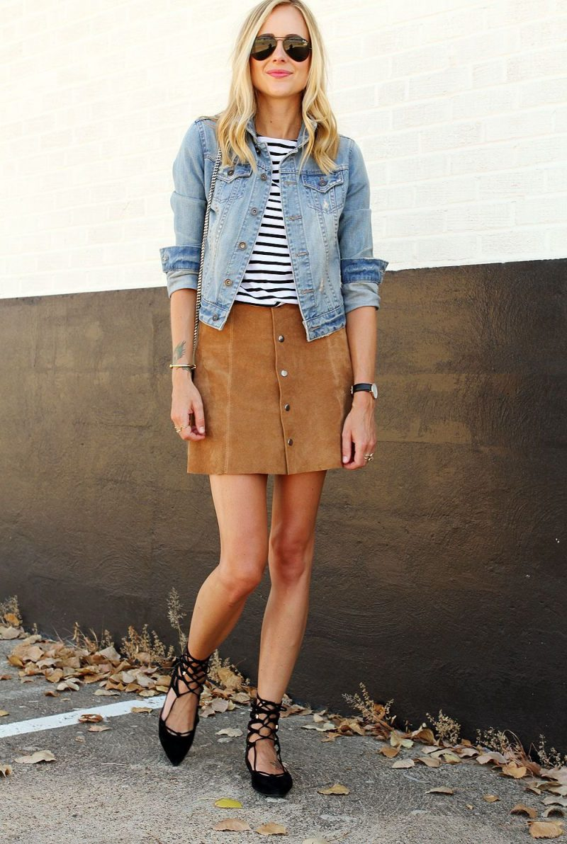 2018 Best Summer Mini Skirts And Shoes Combos For Women (4)