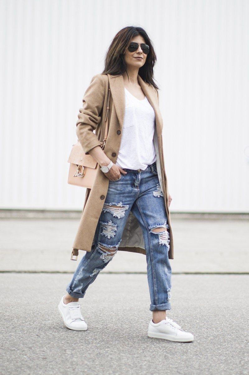 33e63eb573 Feminine Ways To Wear Boyfriend Jeans 2019 ⋆ FashionTrendWalk.com