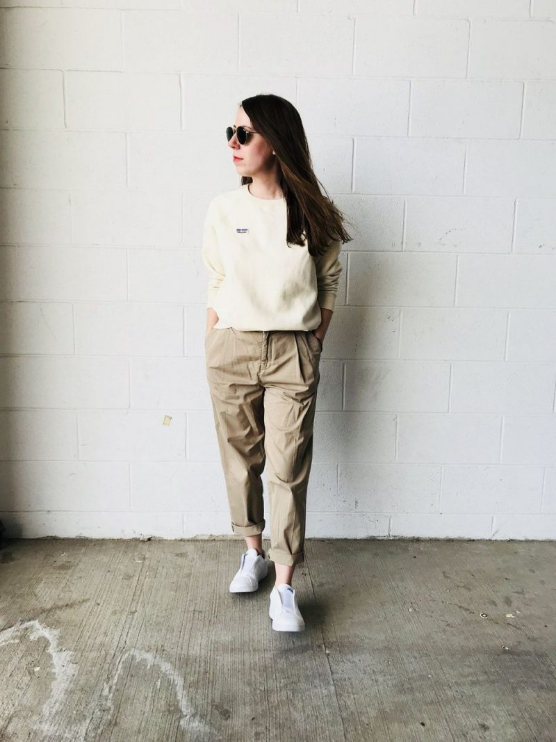 32 Ways to Wear Khaki Color For Women 2019