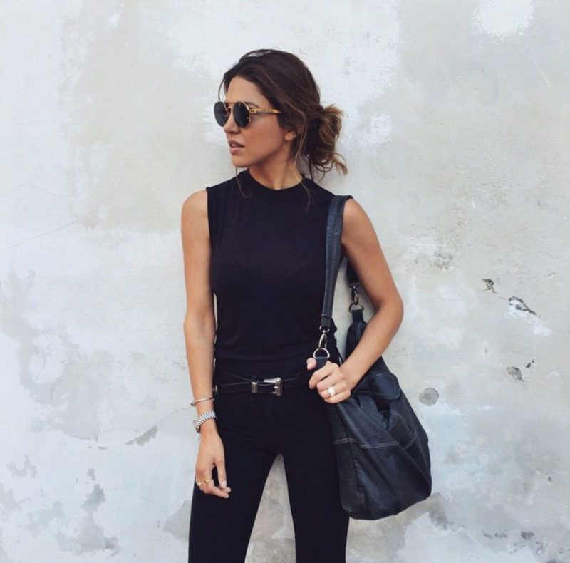2018 Summer All Black Clothes For Women Street Style Ideas (1)