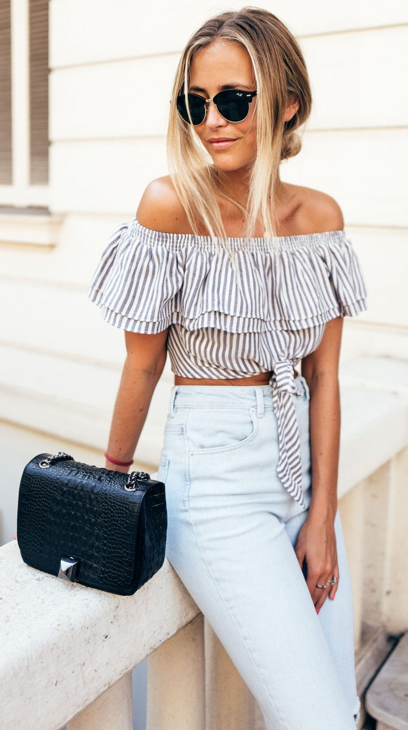 2018 Summer Off Shoulder Trend For Women Inspiring Street Style (2)