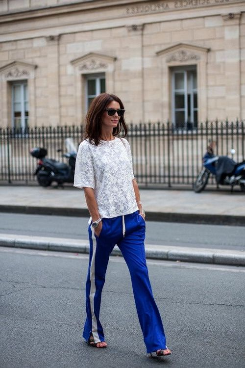 2018 Summer Side Stripe Pants For Women Best Street Style Looks (11)