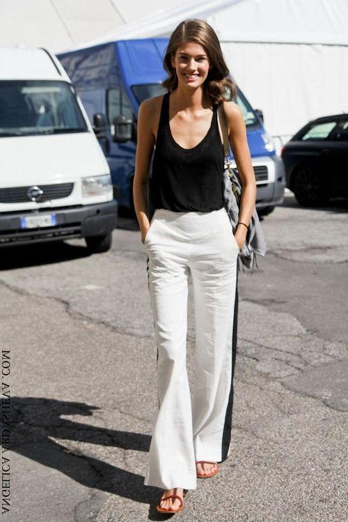 2018 Summer Side Stripe Pants For Women Best Street Style Looks (5)