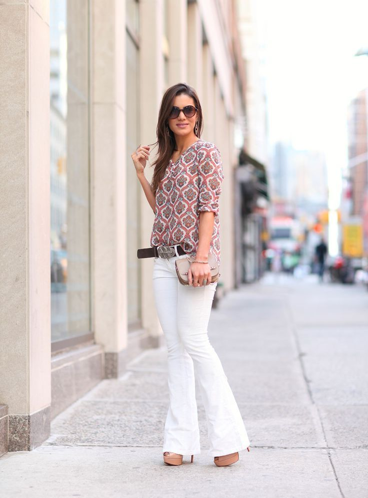 40 Ways To Wear White Pants In Summer 2019
