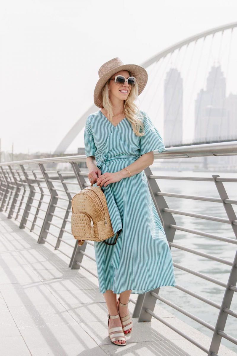 2018 Wrap Dresses For Women Street Style (2)