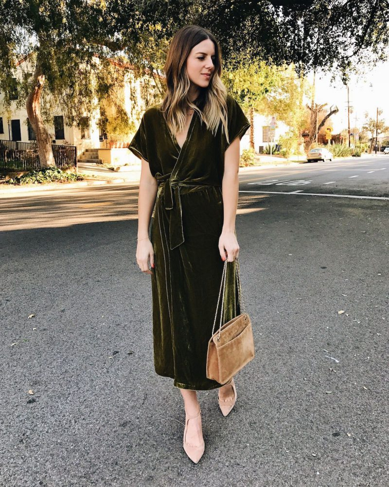 2018 Wrap Dresses For Women Street Style (5)