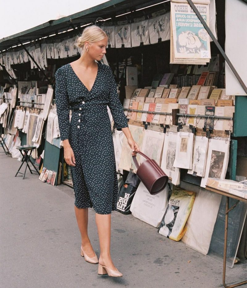 2018 Wrap Dresses For Women Street Style (7)