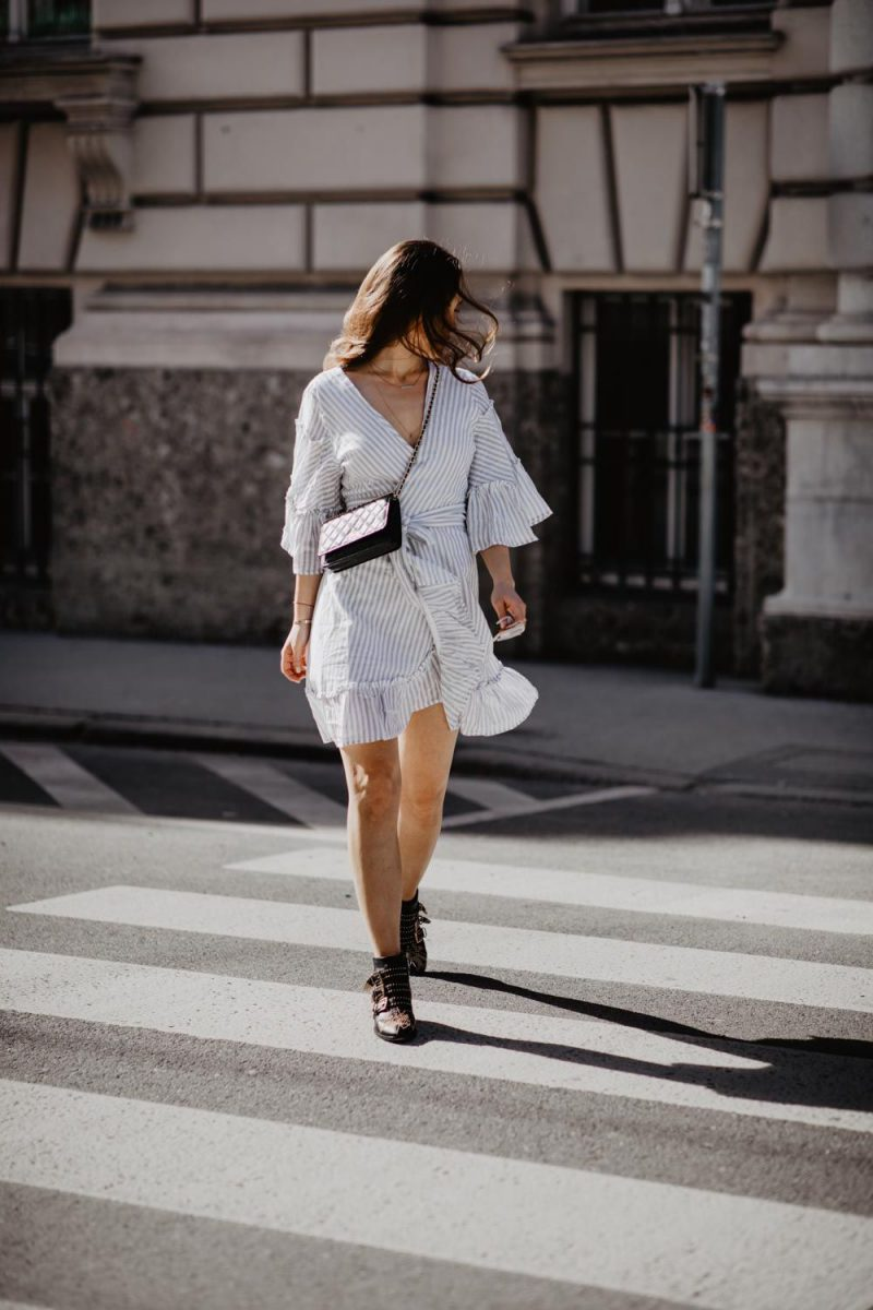 2018 Wrap Dresses For Women Street Style (8)