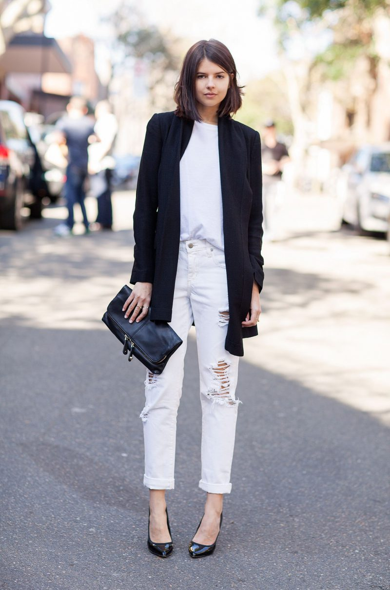 White Jeans 2018 Best Street Style Looks For Women (1)