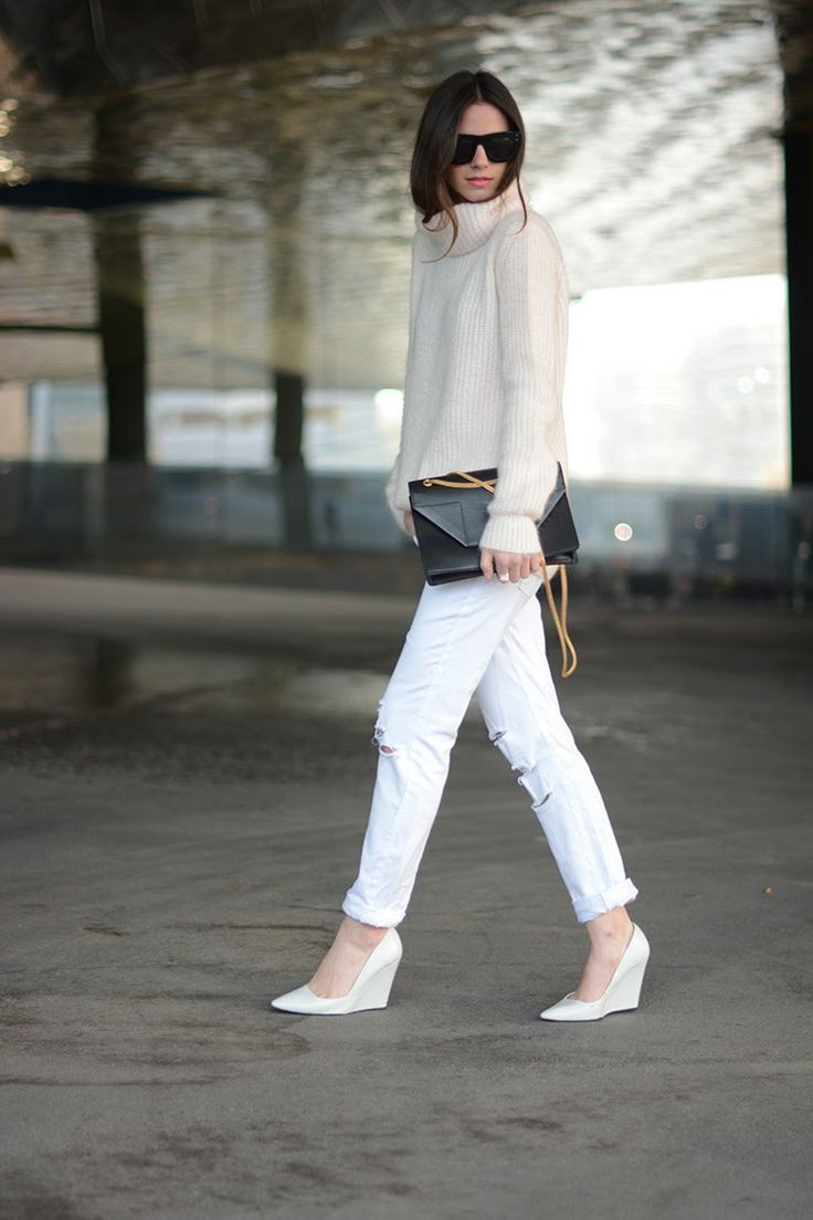 White Jeans 2018 Best Street Style Looks For Women (12)