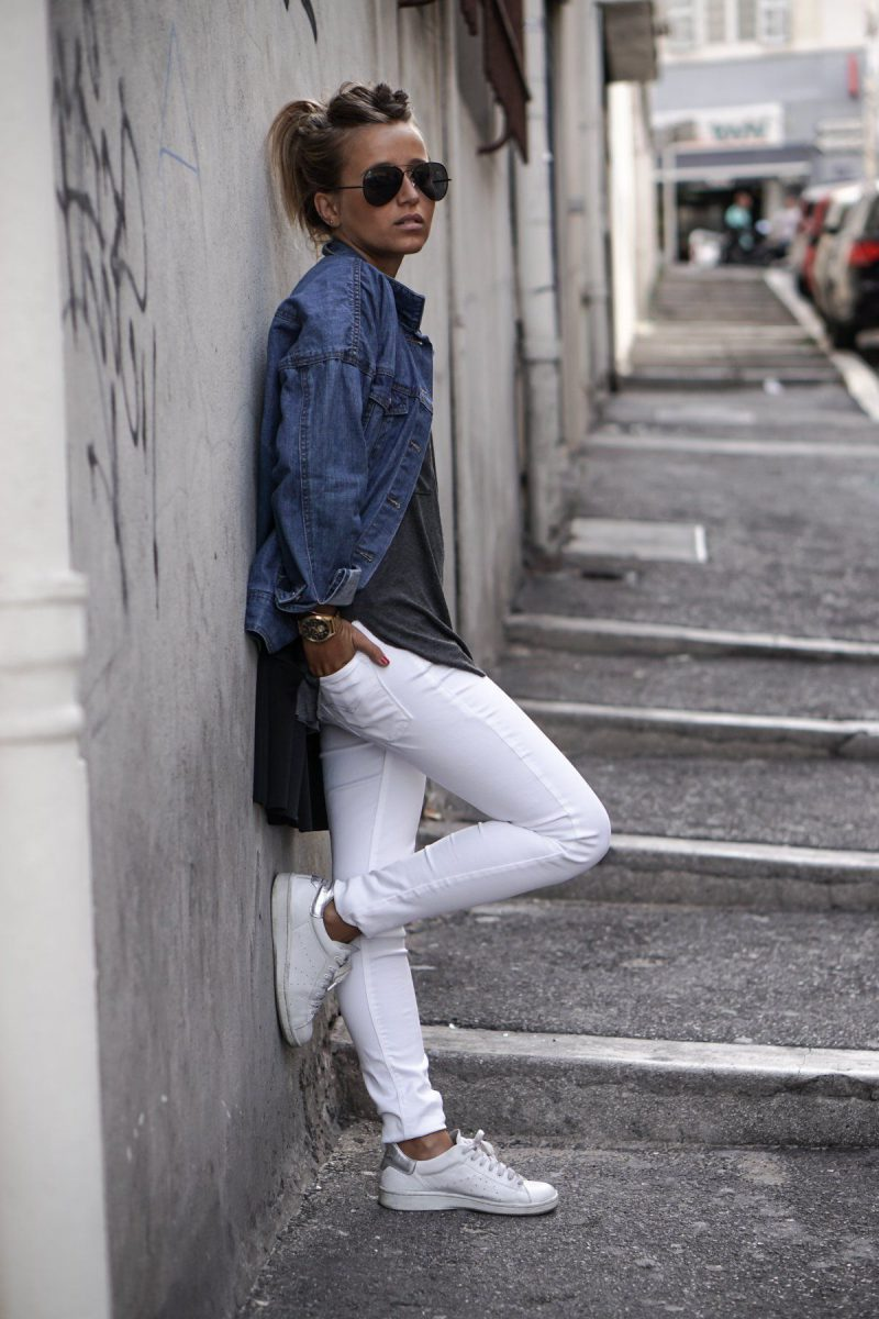 White Jeans 2018 Best Street Style Looks For Women (15)