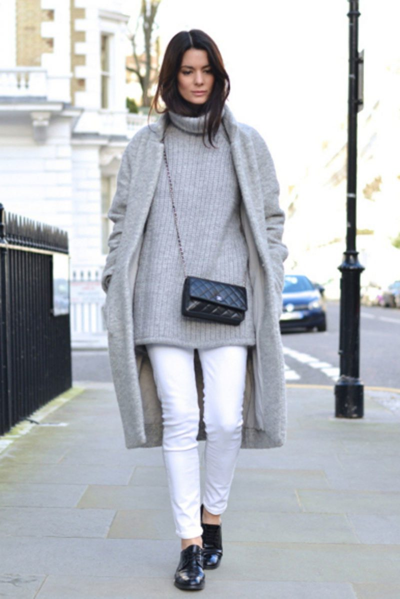 White Jeans 2018 Best Street Style Looks For Women (18)