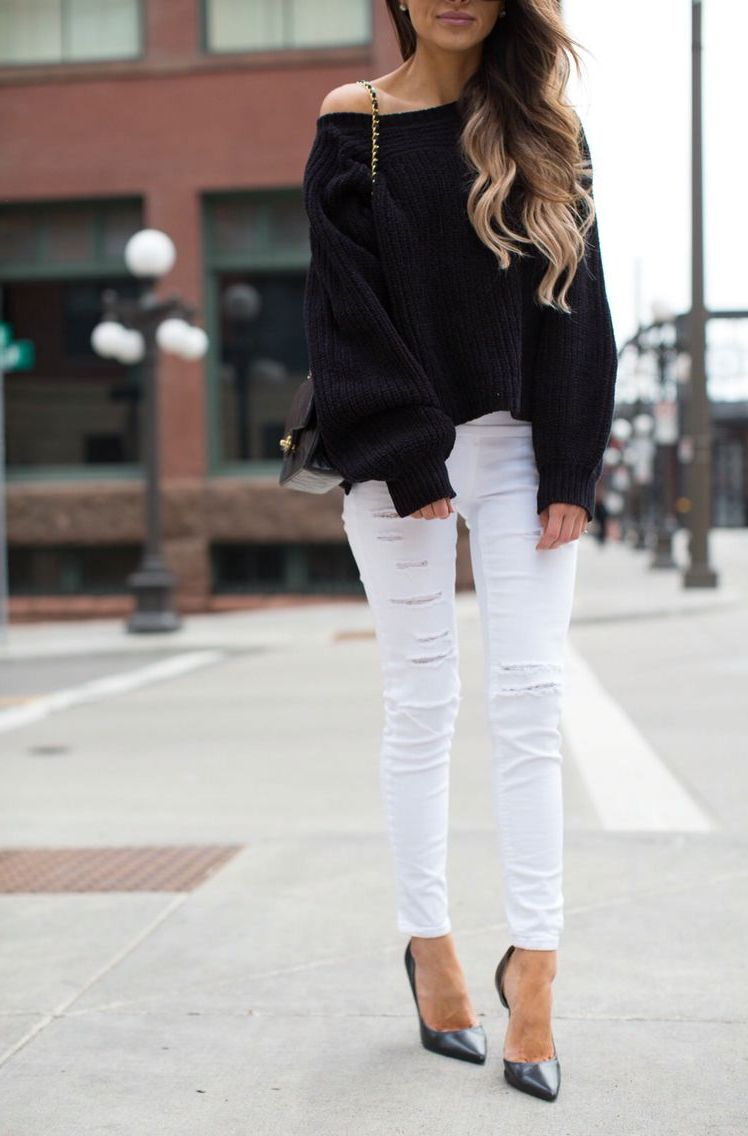 White Jeans 2018 Best Street Style Looks For Women (19)