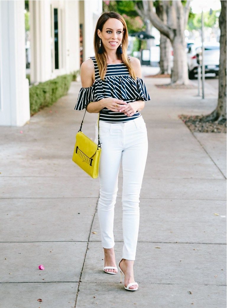 1daee50b Approved Ways To Wear White Jeans 2019 ⋆ FashionTrendWalk.com