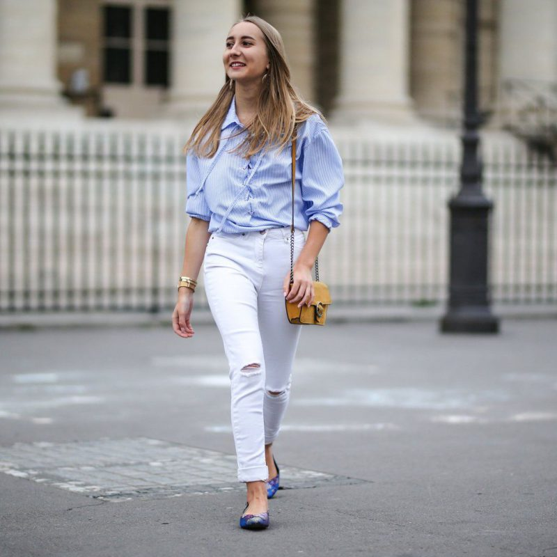 White Jeans 2018 Best Street Style Looks For Women (26)