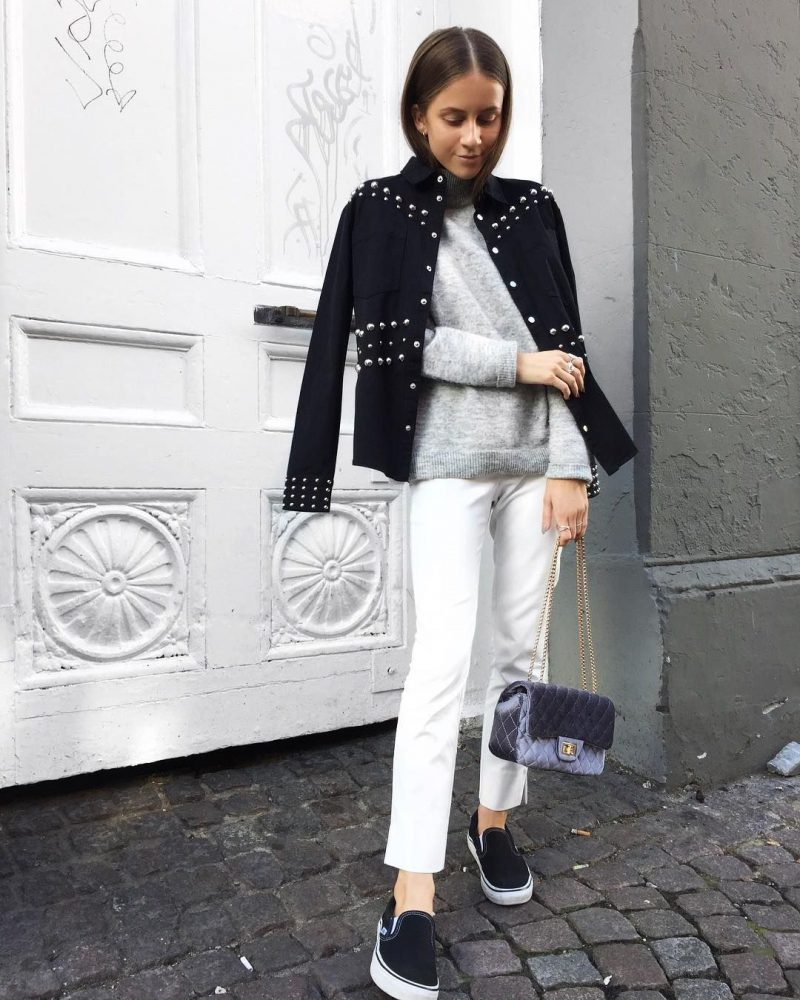 White Jeans 2018 Best Street Style Looks For Women (3)