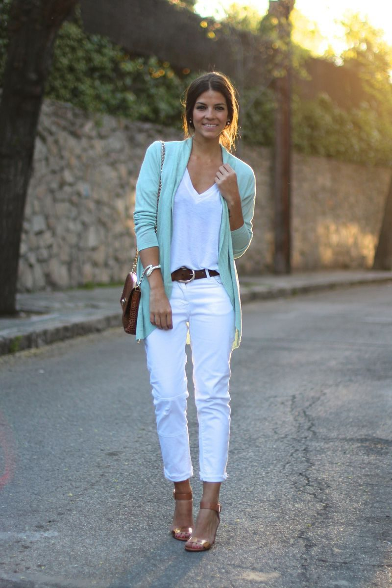 White Jeans 2018 Best Street Style Looks For Women (6)