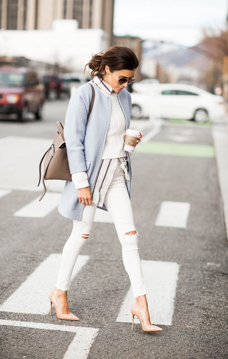 White Jeans 2018 Best Street Style Looks For Women (7)