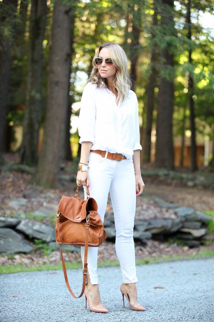 White Jeans 2018 Best Street Style Looks For Women (9)