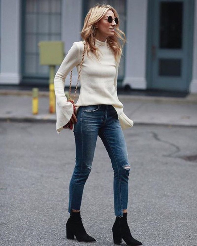 How To Wear Ankle Boots For Women Street Style (18)